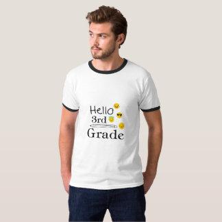 Hello Third Grade  3rd Emoji Funny Gifts T-Shirt