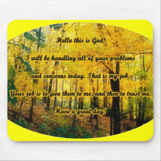 Hello this is God Mouse Pad