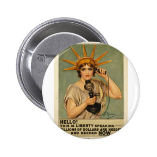 Hello This is liberty speaking Pinback Buttons