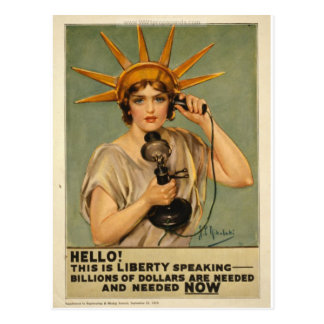 Hello! This is liberty speaking Postcard