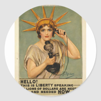 Hello! This is liberty speaking Sticker