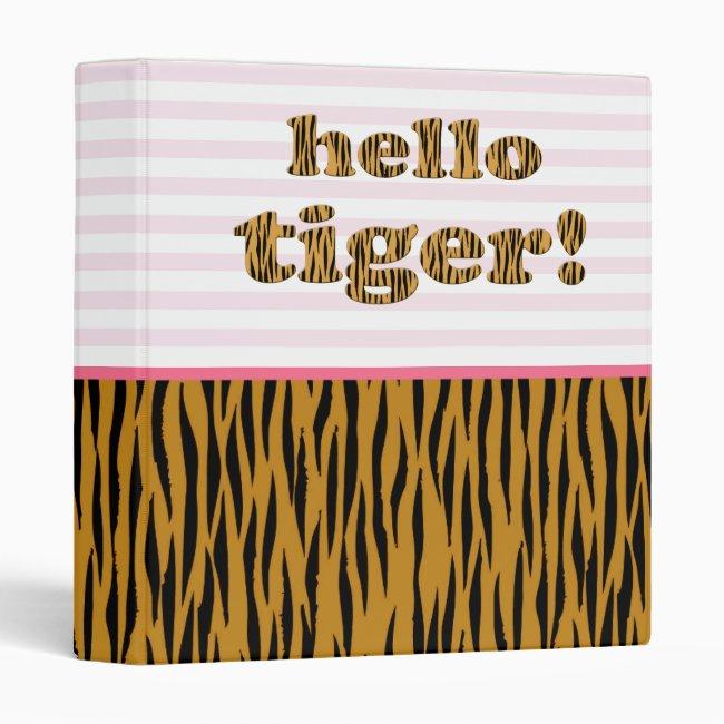 Hello Tiger! Blush Pink Stripes & Tigerprint