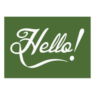 Hello -  Tree Top Large Business Cards (Pack Of 100)