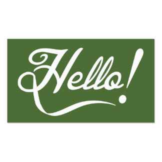 Hello -  Tree Top Double-Sided Standard Business Cards (Pack Of 100)