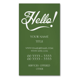 Hello -  Tree Top Magnetic Business Cards (Pack Of 25)