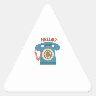 Hello? Triangle Sticker