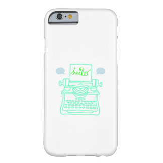 Hello Typewriter Barely There iPhone 6 Case