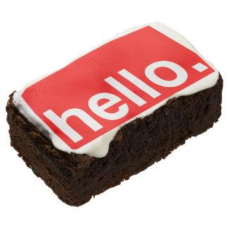 HELLO Typography Brownies