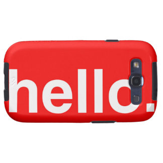 HELLO Typography Greeting Galaxy SIII Case