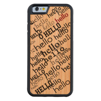 hello typography pattern carved® cherry iPhone 6 bumper case