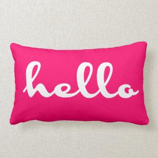 HELLO - Typography - Throw Pillow