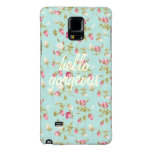 Hello Vintage floral pattern shabby rose chic Galaxy Note 4 Case