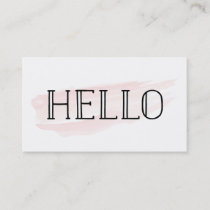 Hello Watercolor Stroke | Business Cards