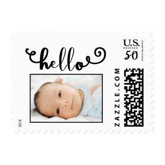 hello white/photo - Postage Stamp