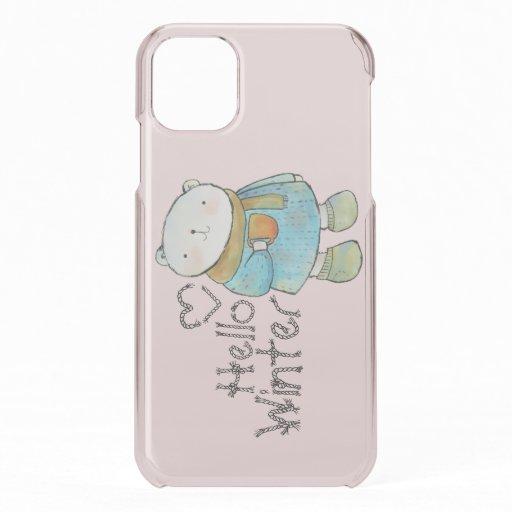 Hello Winter Cute Polar Bear iPhone 11 Case