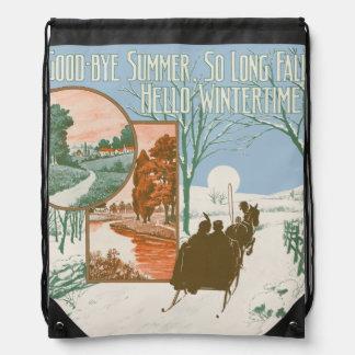 Hello Wintertime Cinch Bag