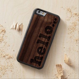 HELLO | Wood iPhone 6 Cases Carved® Walnut iPhone 6 Bumper Case