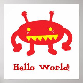 Hello World Alien Poster