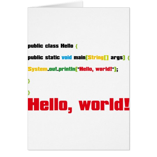 Hello, World! Card