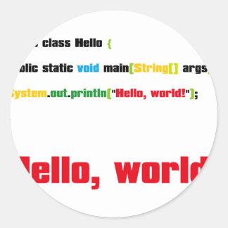 Hello, World! Classic Round Sticker