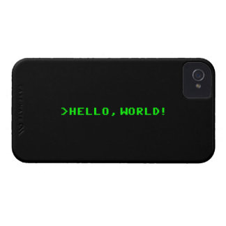 Hello World Computer Programming iPhone 4 Cover