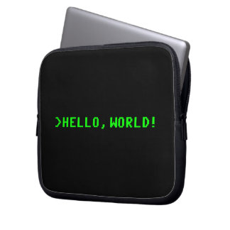 Hello World Computer Programming Laptop Sleeve
