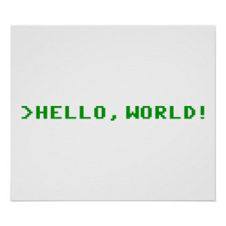 Hello World Computer Programming Poster