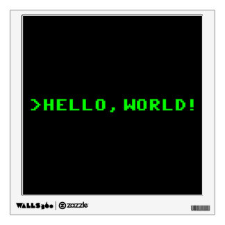 Hello World Computer Programming Wall Sticker