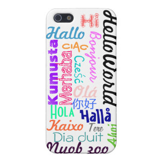 Hello World Cover For iPhone SE/5/5s