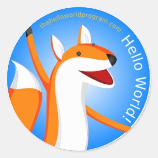 Hello World! Daisy the Fox Sticker