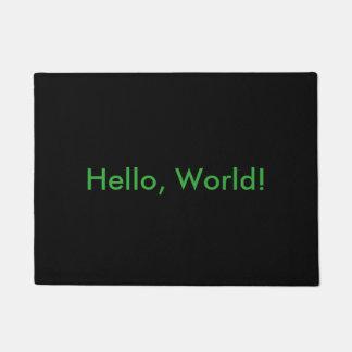 Hello, World! door mat