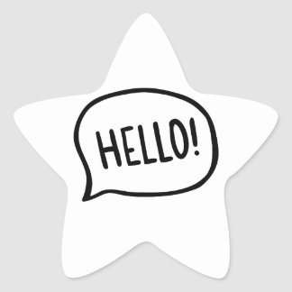 Hello! World! I am here Star Sticker