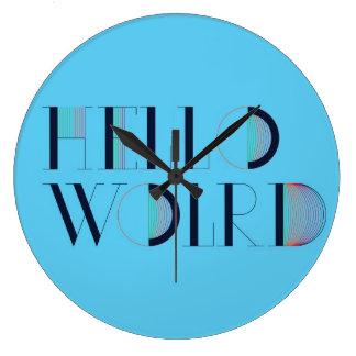 Hello World Large Clock