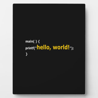 Hello World! Plaque