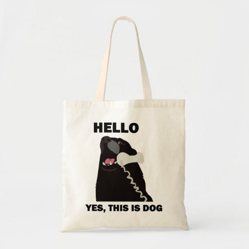 HELLO YES THIS IS DOG telephone phone Tote Bag