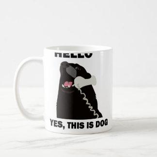HELLO YES THIS IS DOG telephone phone Classic White Coffee Mug