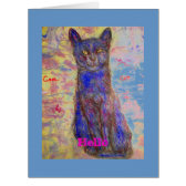 hello you're one cool cat large greeting card