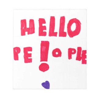 Helloe People! Memo Pad