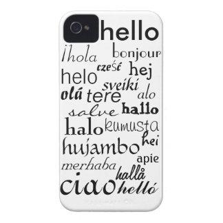 hellohello iPhone 4 Case-Mate funda