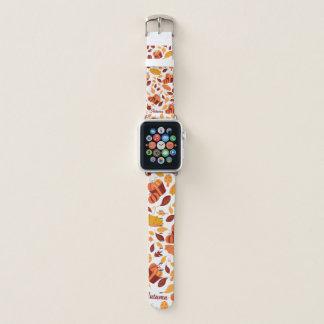 Hellow Autumn Pattern Apple Watch Band