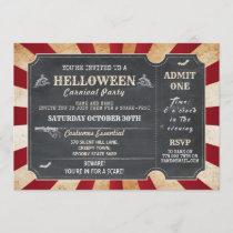 HELLoween Halloween Party Circus Horror Ticket Invitation