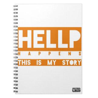 HELLP Happens (orange) Spiral Note Book