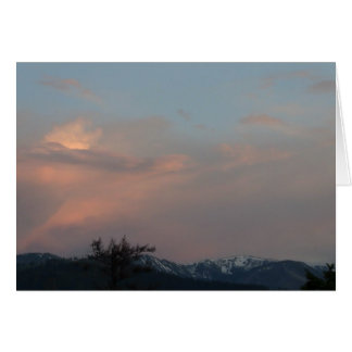 Hells Canyon Idaho Landscape Skyscape Waterscape Greeting Card