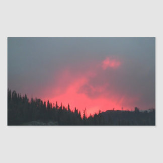Hells Canyon Idaho Landscape Skyscape Waterscape Rectangular Sticker