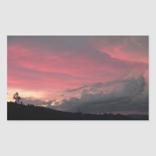 Hells Canyon Idaho Landscape Skyscape Waterscape Rectangle Sticker