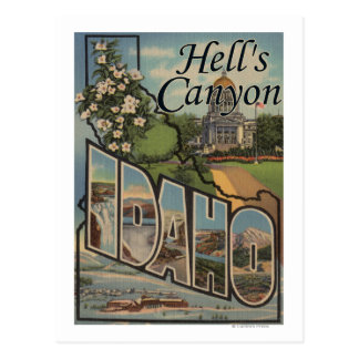 Hell's Canyon, Idaho - Large Letter Scenes Postcard