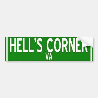 Hell's Corner bumpersticker Car Bumper Sticker