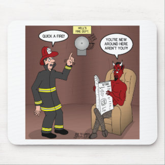 Hells Fire Department Mouse Pad