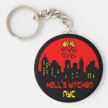 Hell's Kitchen Devil Logo Keychain