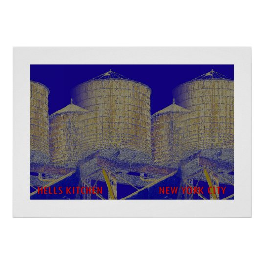 Hells Kitchen District Water Towers: New York City Poster